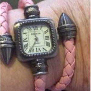Pink wrap around watch